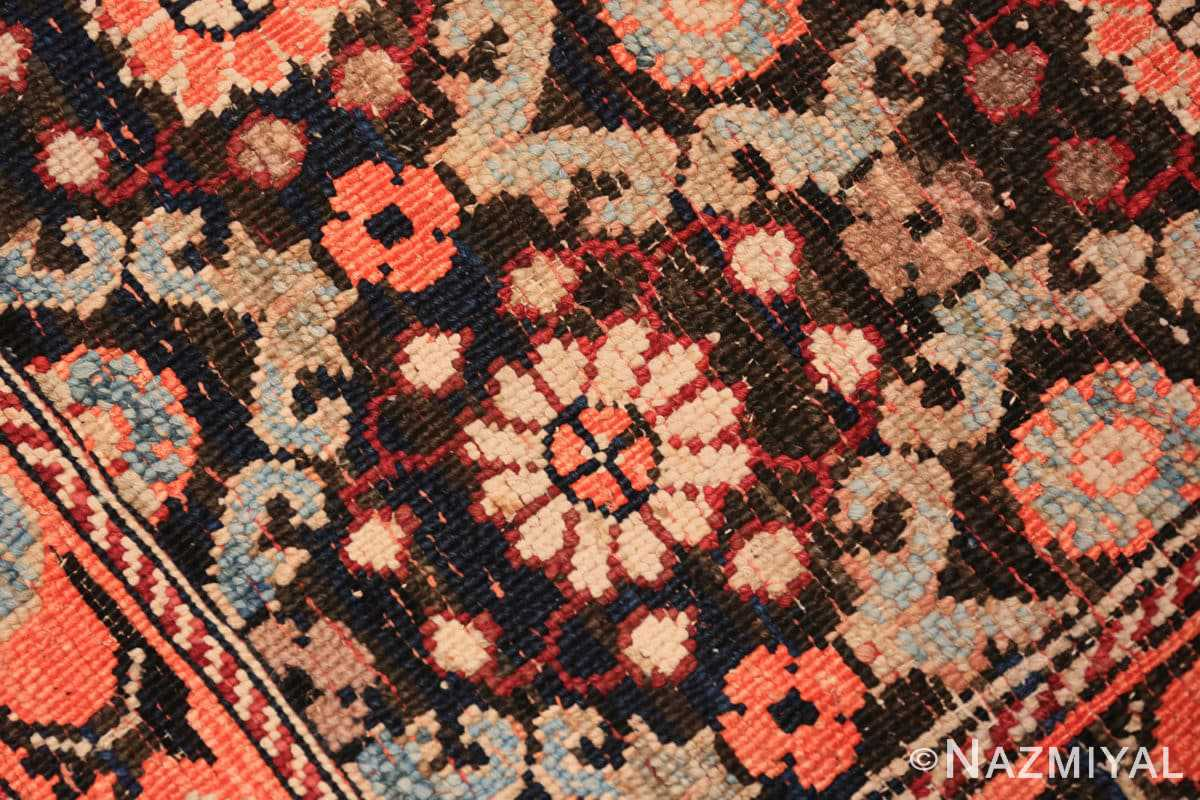Weave small antique silk and cotton Indian Agra rug 41163 by Nazmiyal