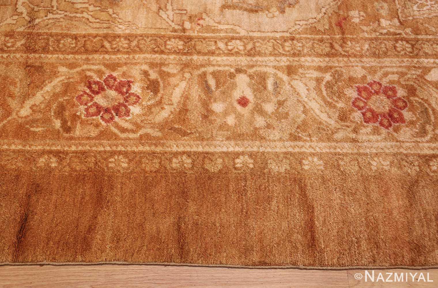 large decorative antique turkish oushak rug 1500 border Nazmiyal