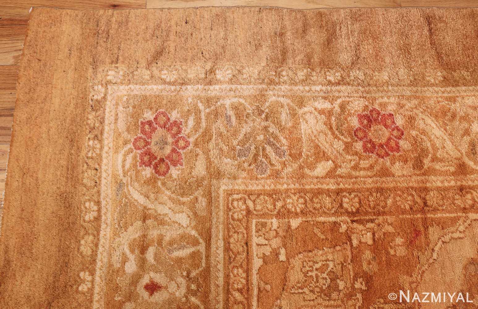 large decorative antique turkish oushak rug 1500 corner Nazmiyal
