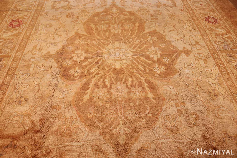 large decorative antique turkish oushak rug 1500 field Nazmiyal