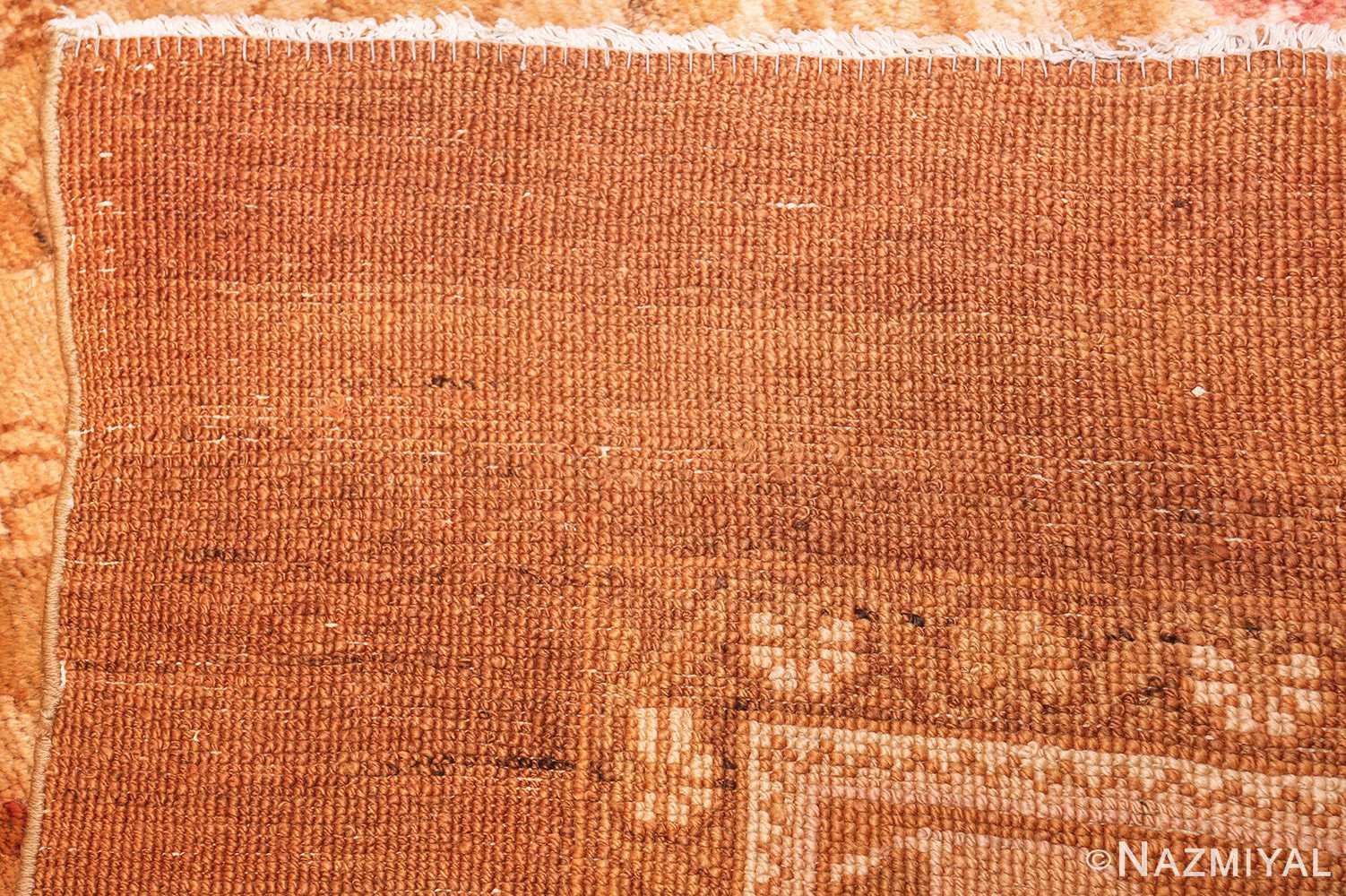 large decorative antique turkish oushak rug 1500 weave Nazmiyal