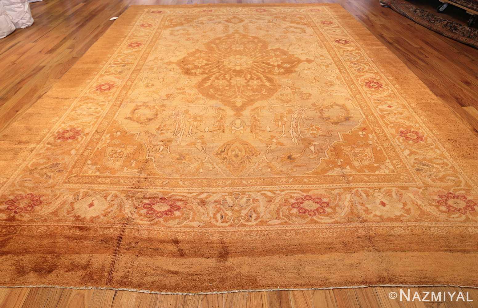 large decorative antique turkish oushak rug 1500 whole Nazmiyal