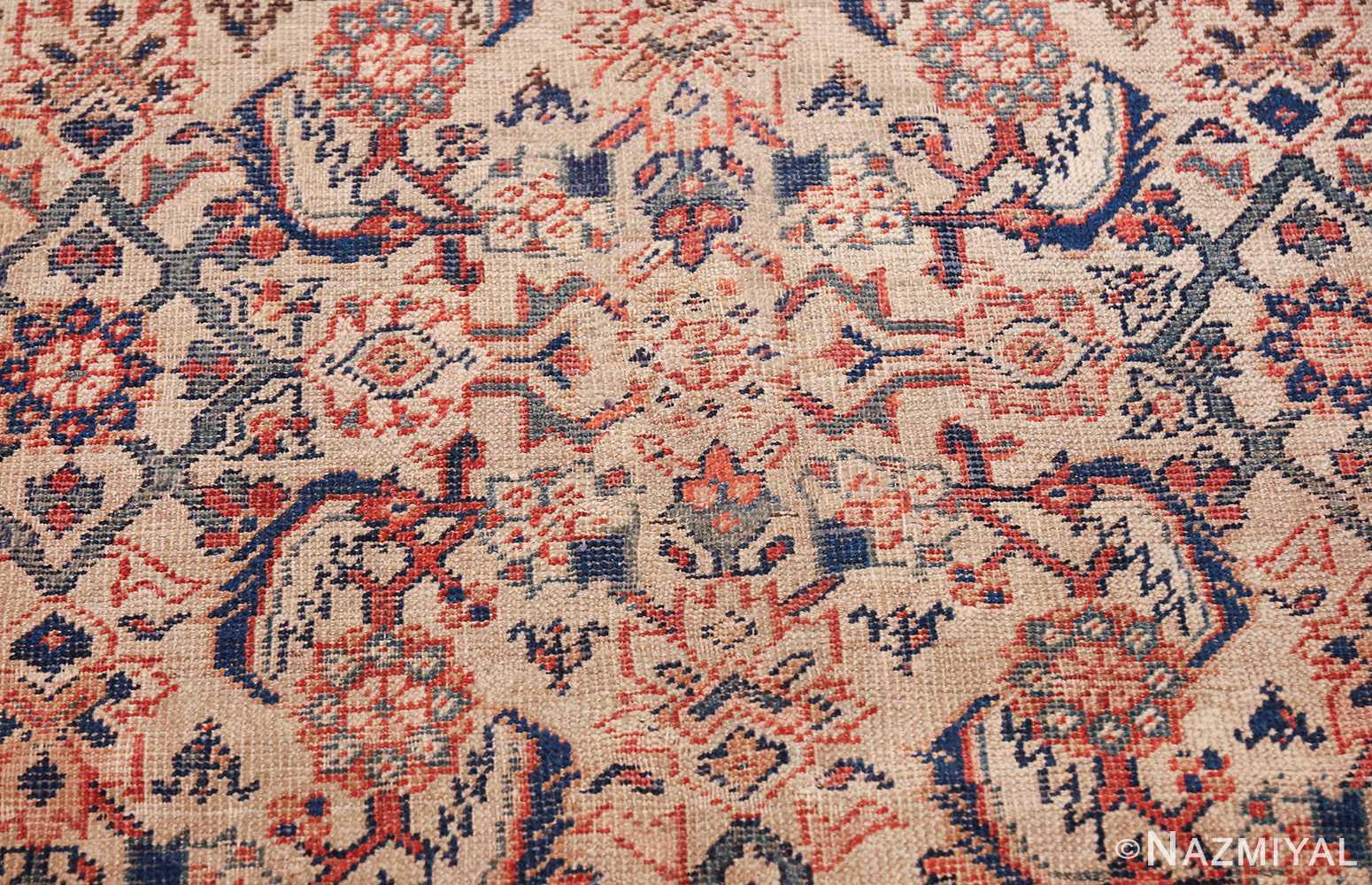 antique persian sultanabad rug 42301 white Nazmiyal