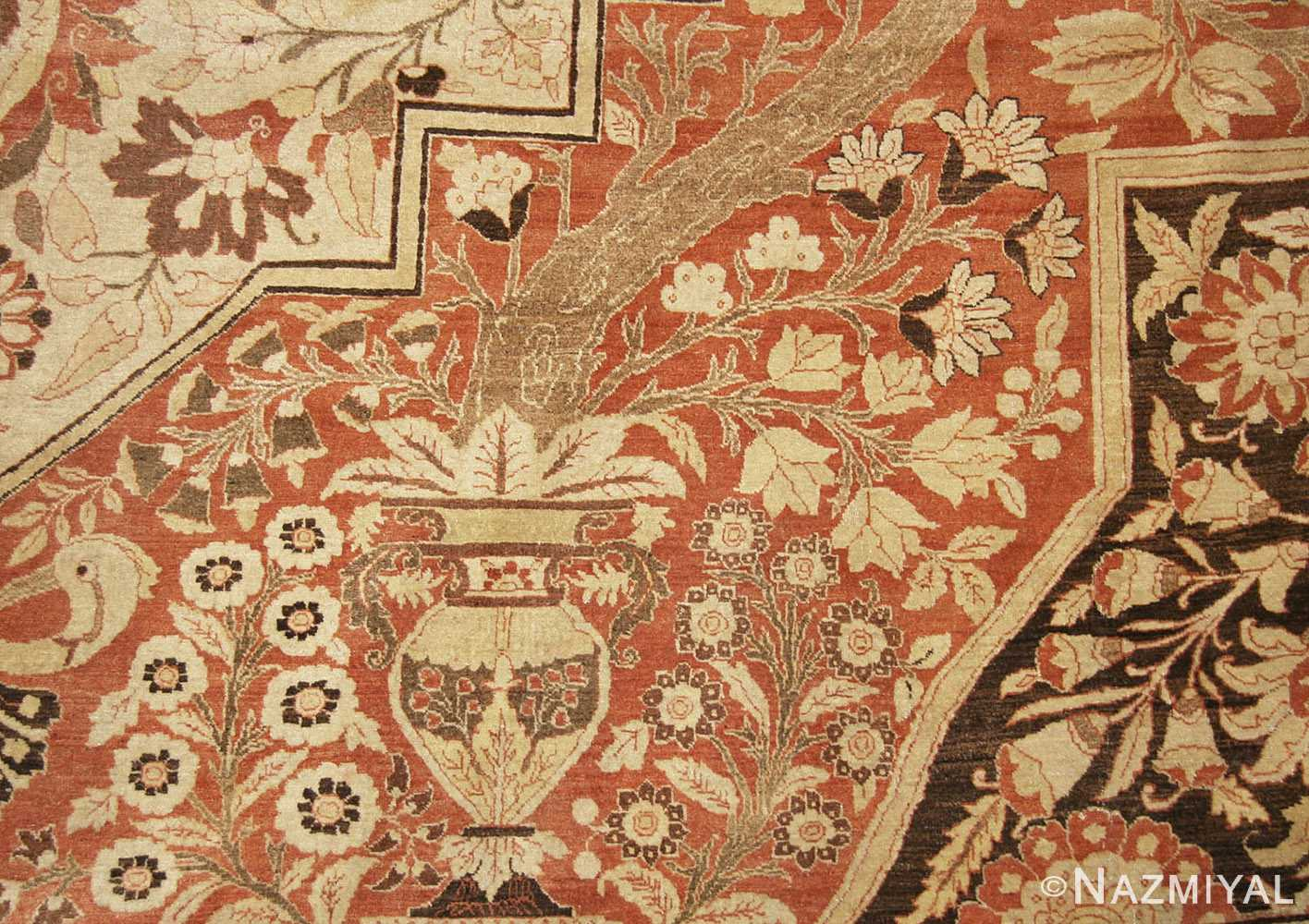 oriental oversized antique persian tabriz haji jalili carpet 41353 vase Nazmiyal