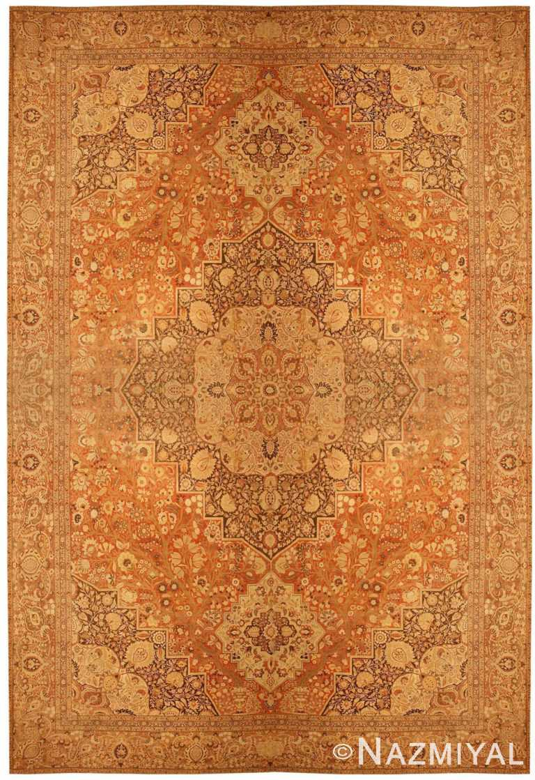 Oversized Antique Persian Tabriz Haji Jalili Carpet 41353 Nazmiyal