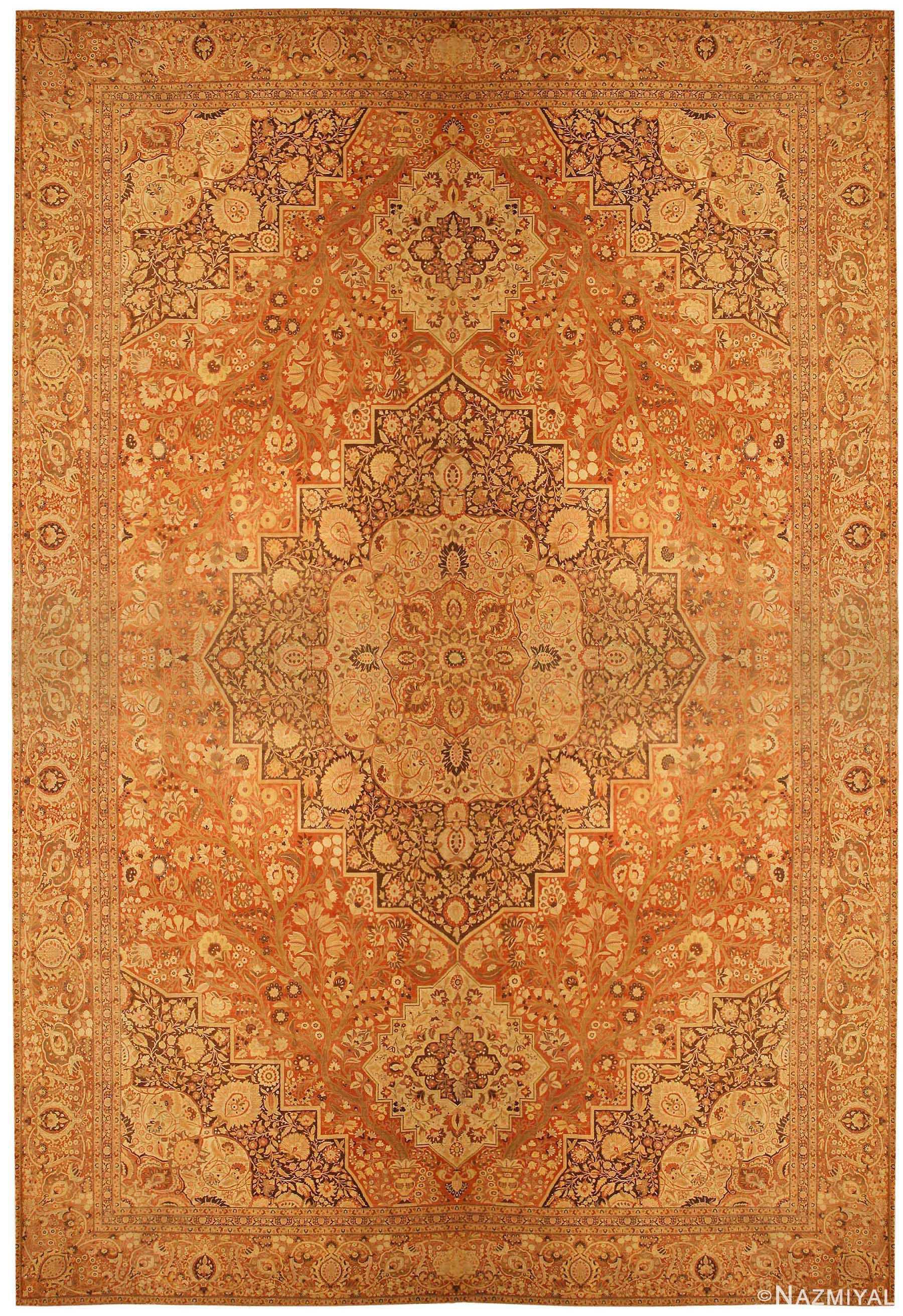 Oversized Antique Persian Tabriz Haji Jalili Carpet 41353 Nazmiyal