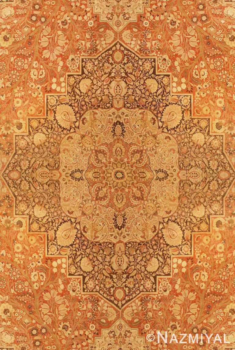 Oversized Antique Persian Tabriz Haji Jalili Carpet #41353 by Nazmiyal Antique Rugs