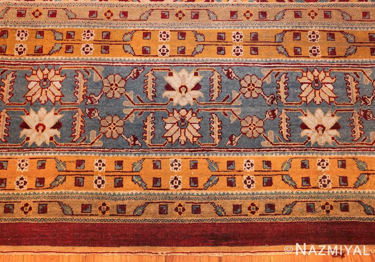 antique indian amritsar rug 2670 border Nazmiyal