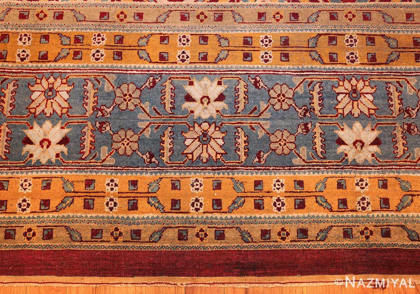 antique indian amritsar rug 2670 border Nazmiyal