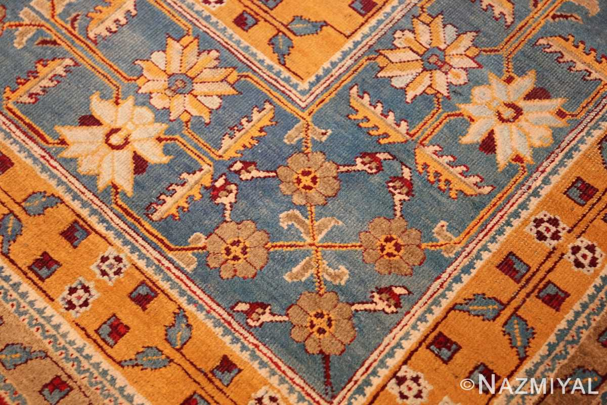 antique indian amritsar rug 2670 corner Nazmiyal