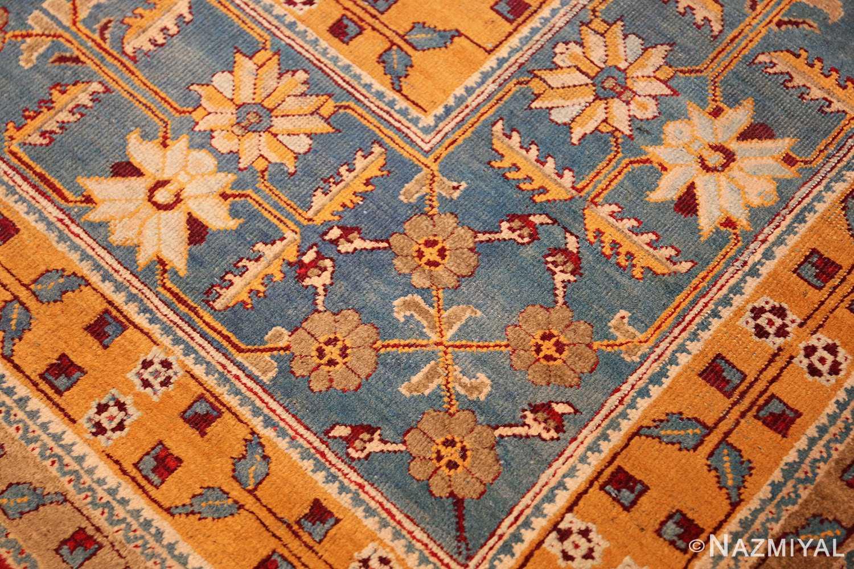 antique indian amritsar rug 2670 corner Nazmiyal