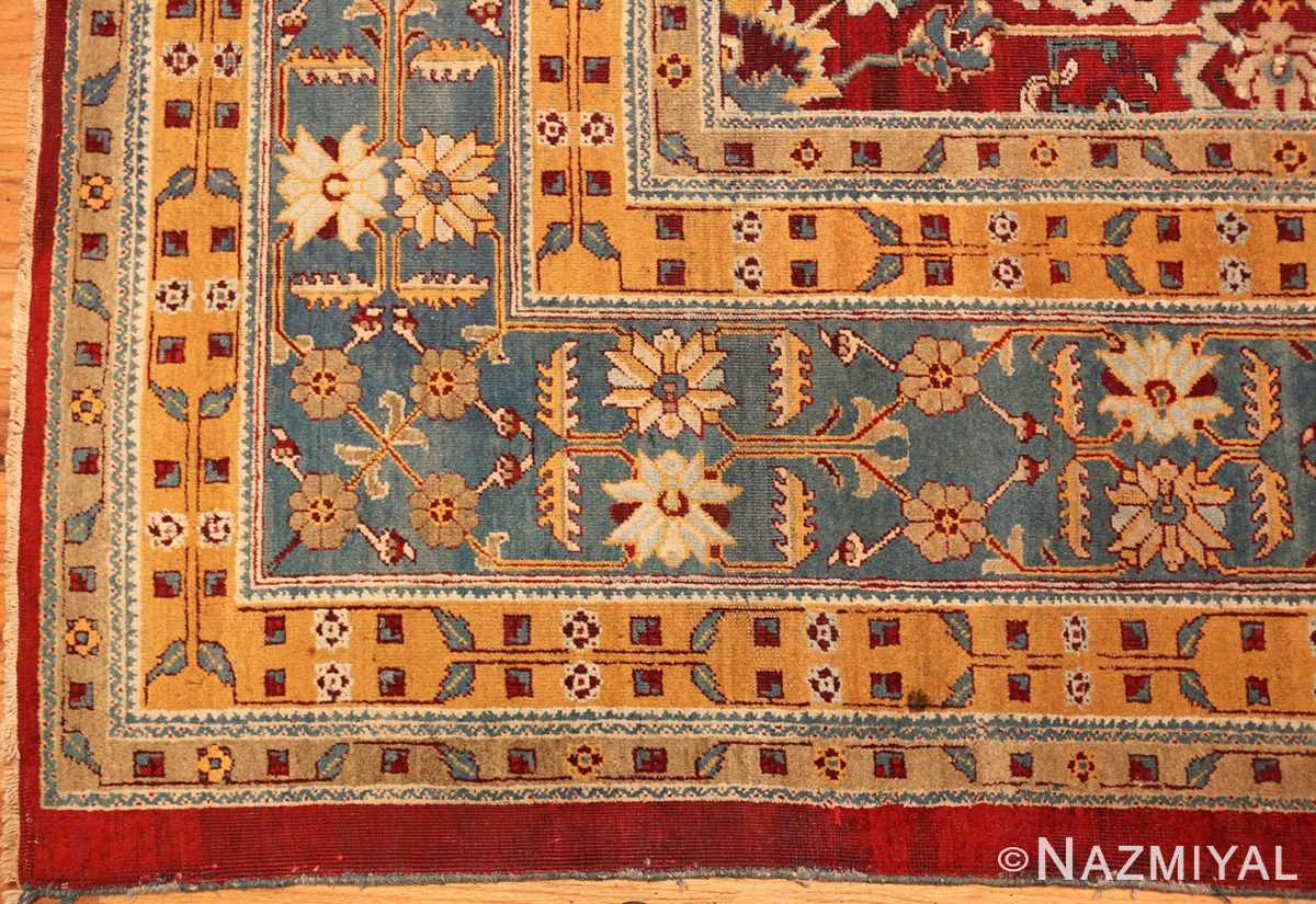 antique indian amritsar rug 2670 part Nazmiyal