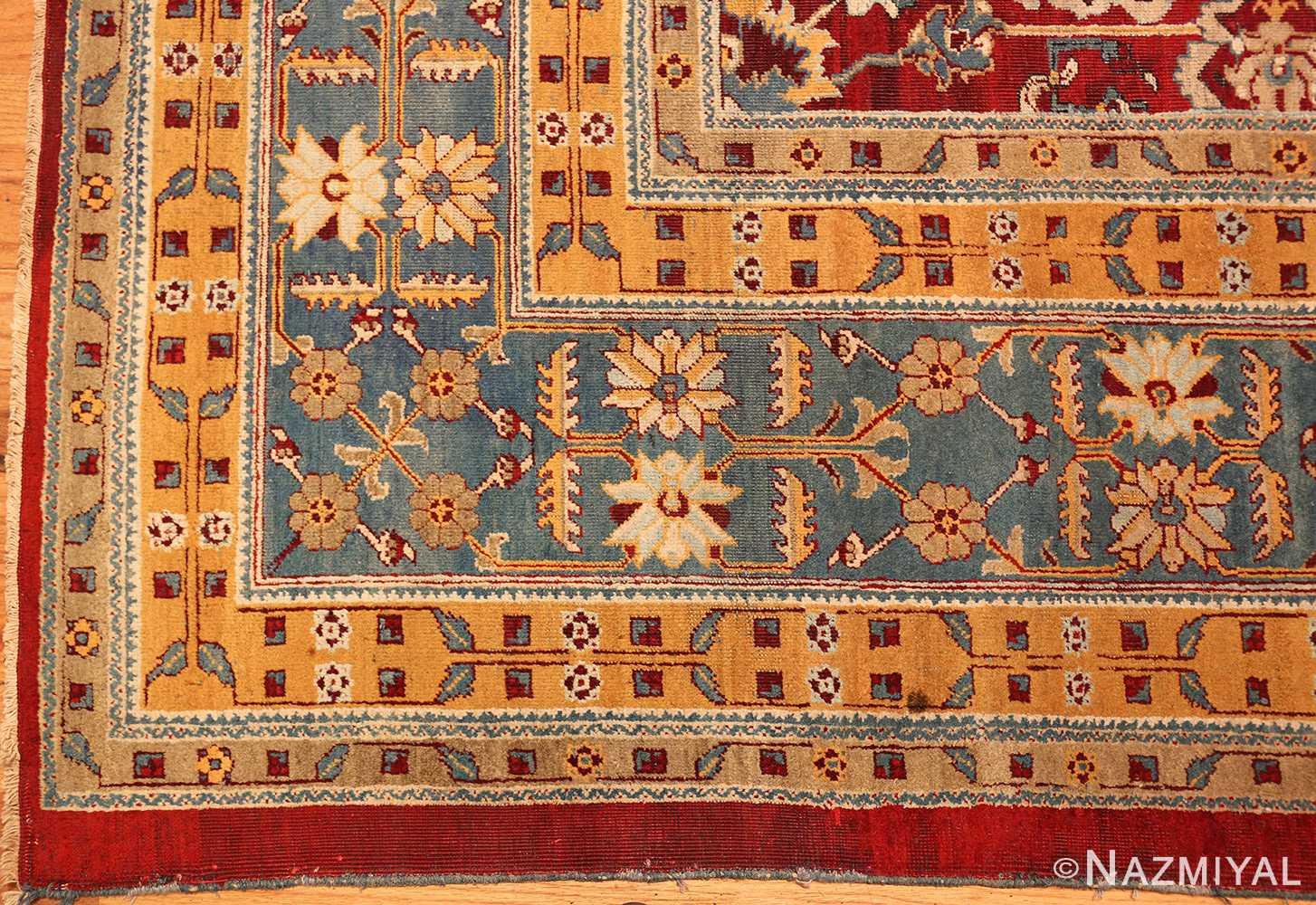 antique indian amritsar rug 2670 part Nazmiyal
