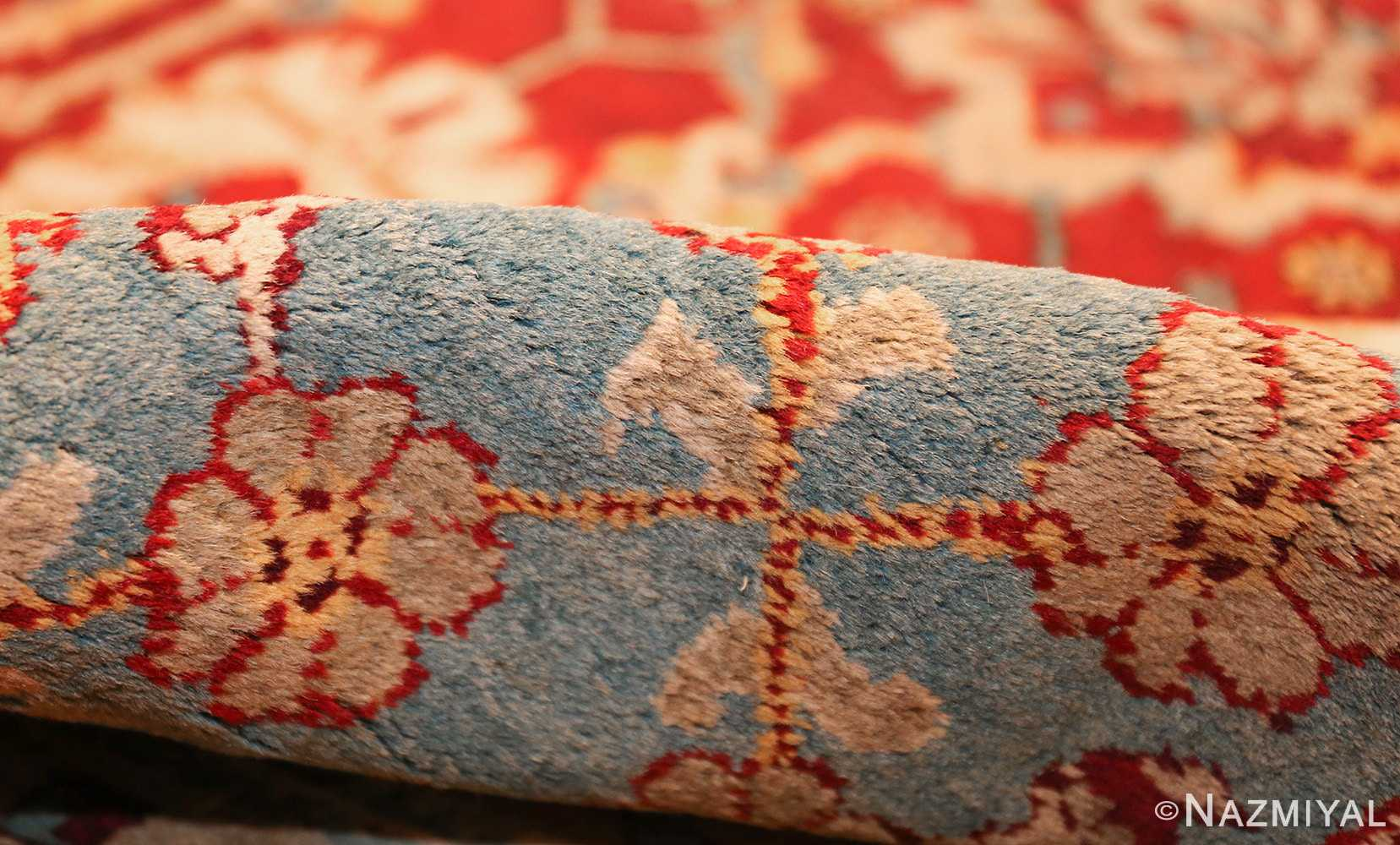 antique indian amritsar rug 2670 pile Nazmiyal