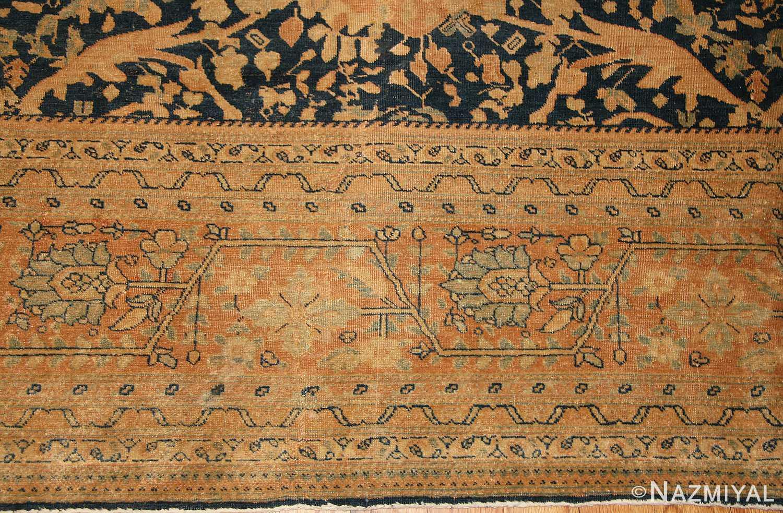 antique tabriz persian rug 40093 border Nazmiyal