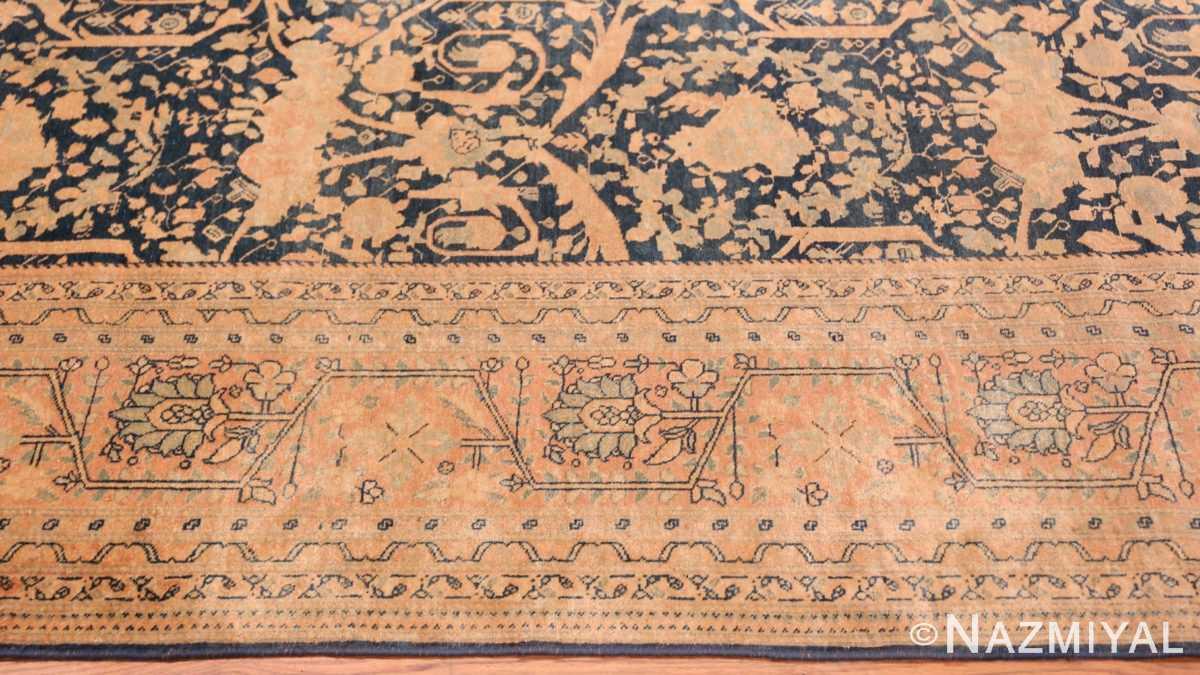 Border Antique Tabriz Persian rug 40093 by Nazmiyal