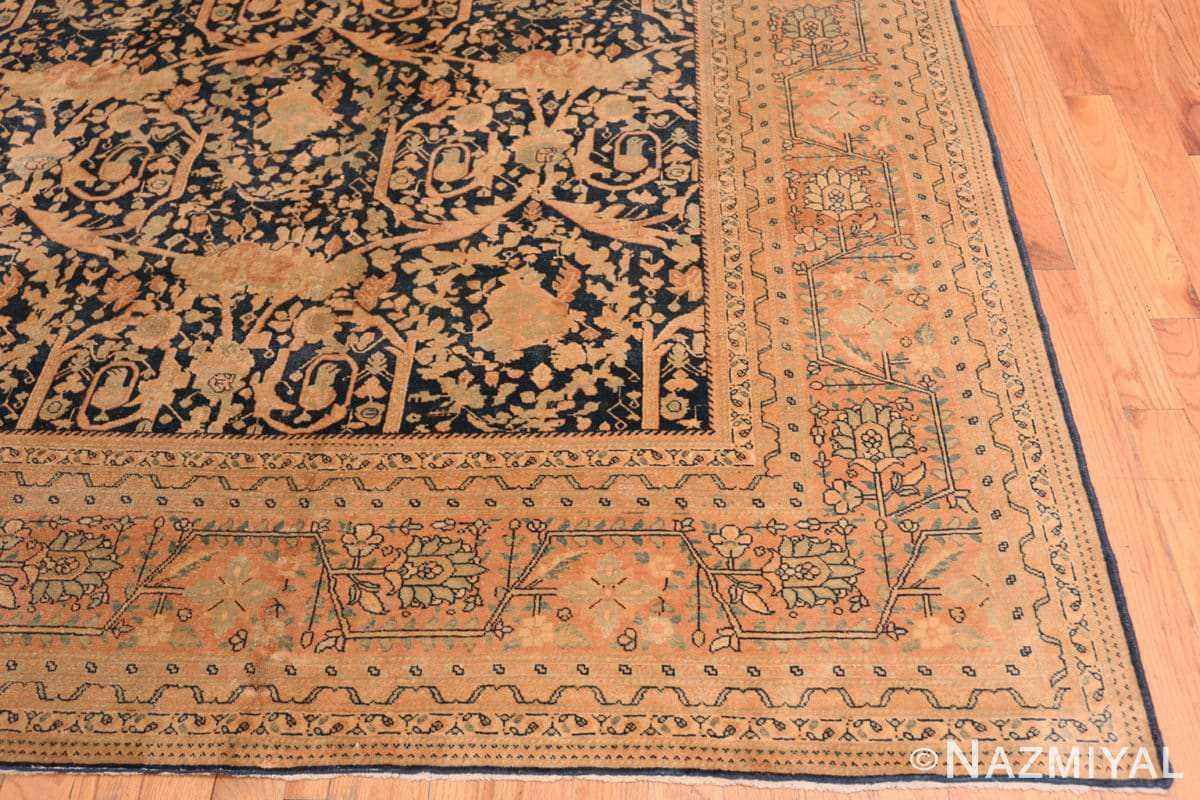 Corner Antique Tabriz Persian rug 40093 by Nazmiyal