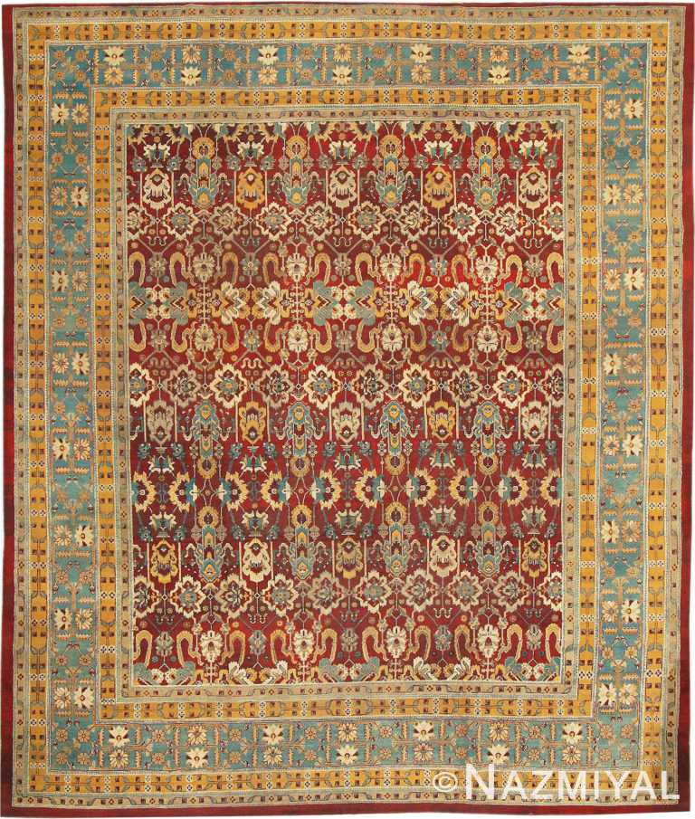 Red Room Size Antique Indian Amritsar Rug #2670 by Nazmiyal Antique Rugs