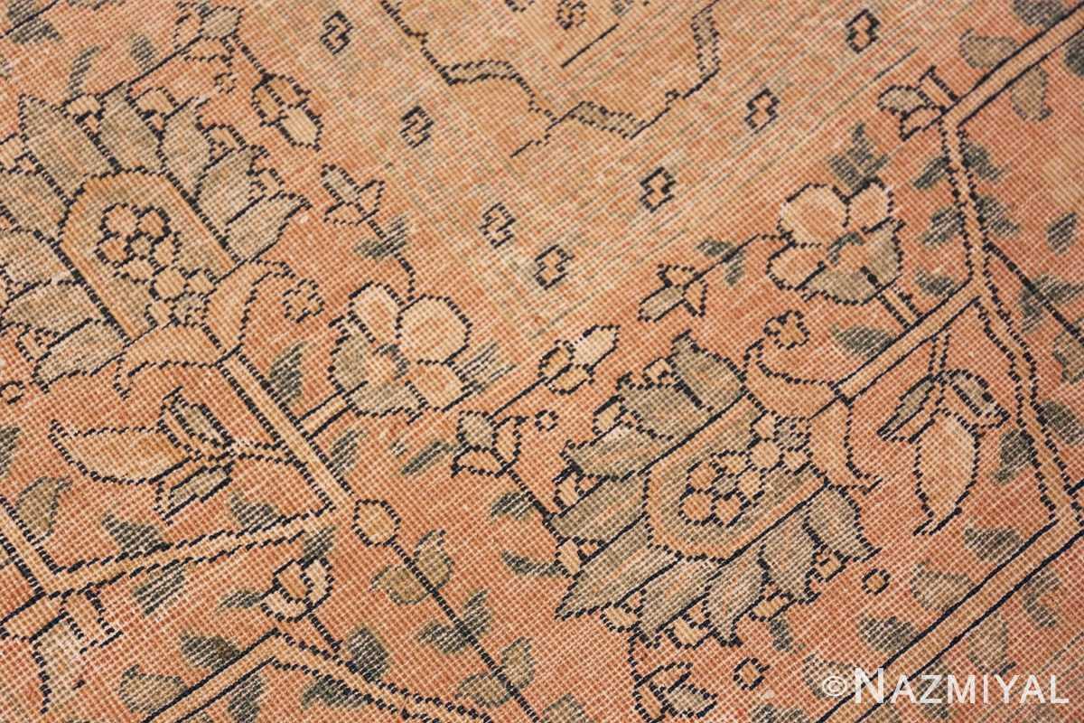 Weave detail Antique Tabriz Persian rug 40093 by Nazmiyal