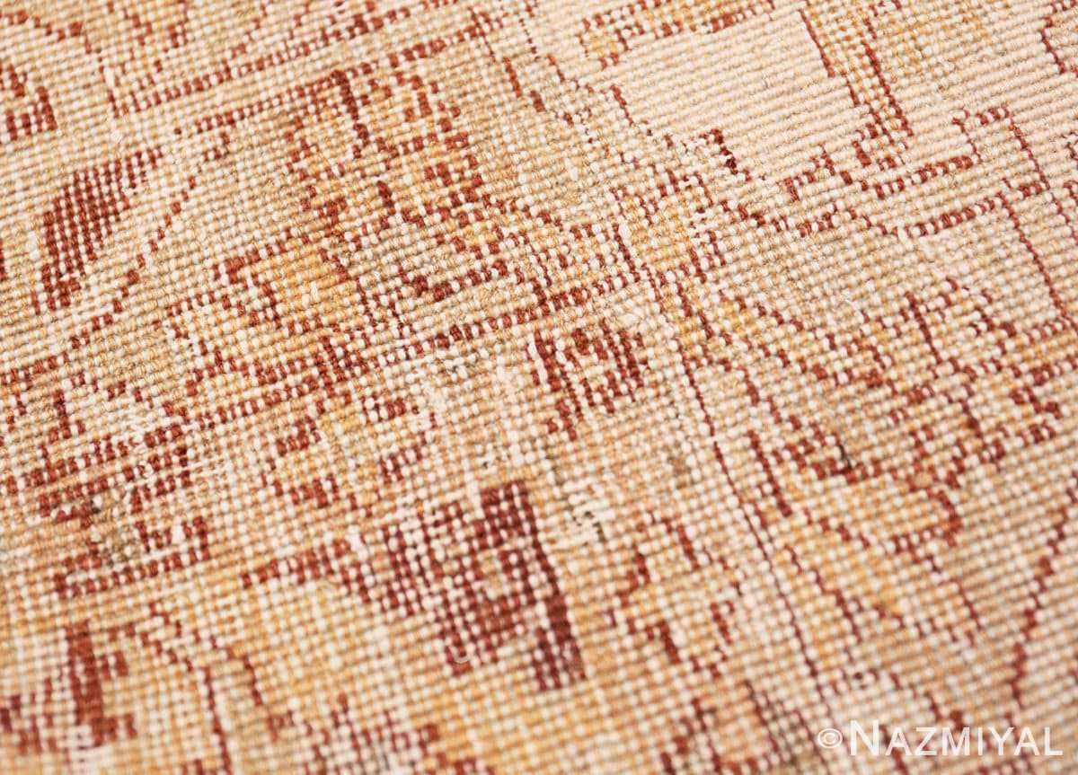 Weave detail Small decorative Antique Indian Amritsar rug 40707 by Nazmiyal
