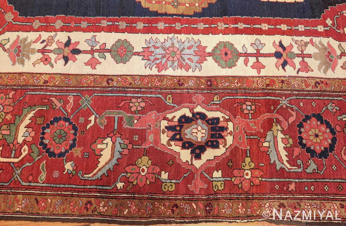 antique persian heriz serapi rug 44177 border edited Nazmiyal