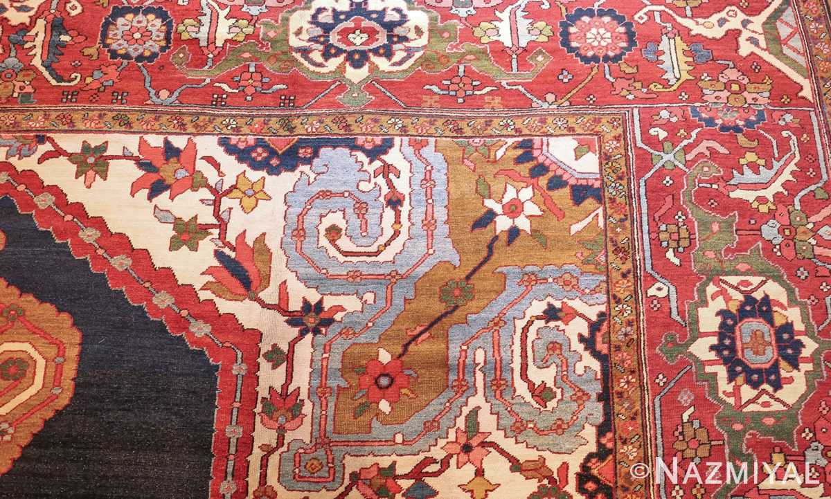 antique persian heriz serapi rug 44177 corner edited Nazmiyal