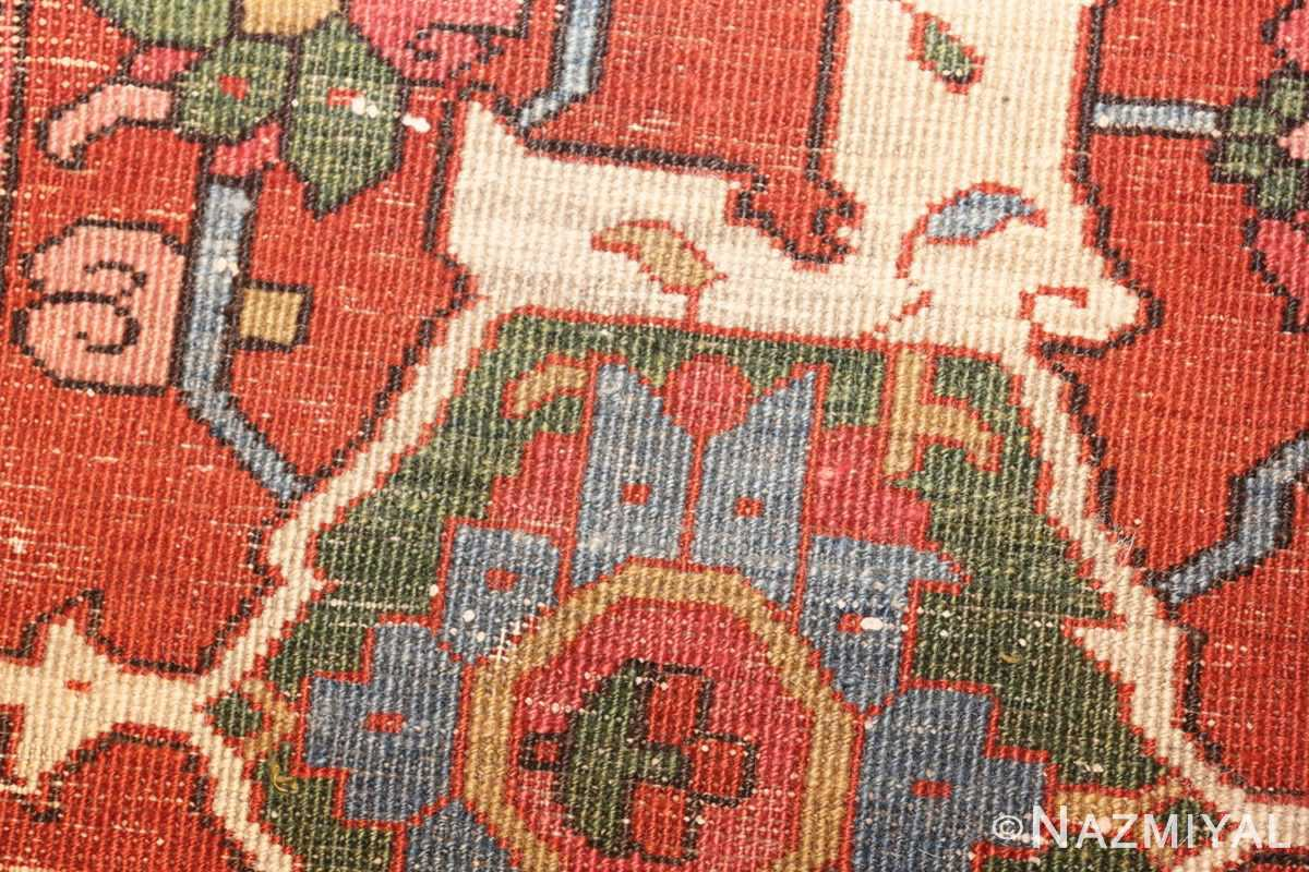 antique persian heriz serapi rug 44177 weave edited Nazmiyal