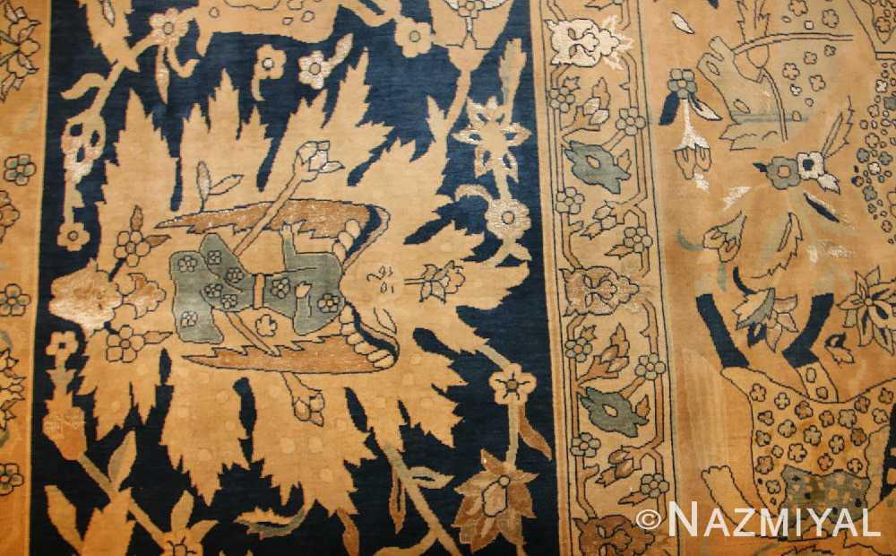 antique silk and wool agra indian rug 3450 design Nazmiyal