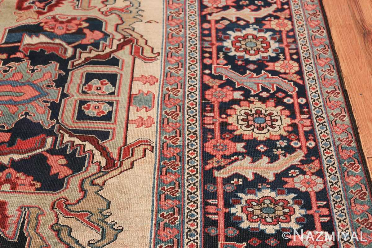Oversize Antique Persian Heriz Serapi Persian Rug 44085 Border Nazmiyal