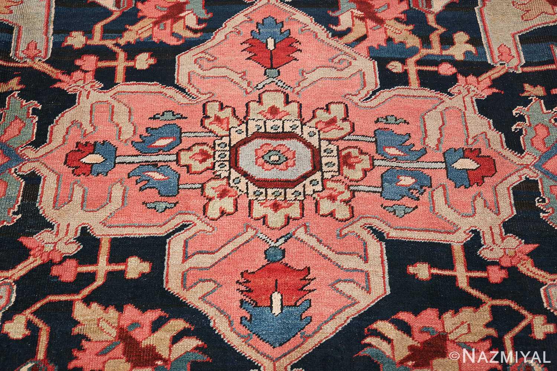 Oversize Antique Persian Heriz Serapi Persian Rug 44085 Middle Nazmiyal