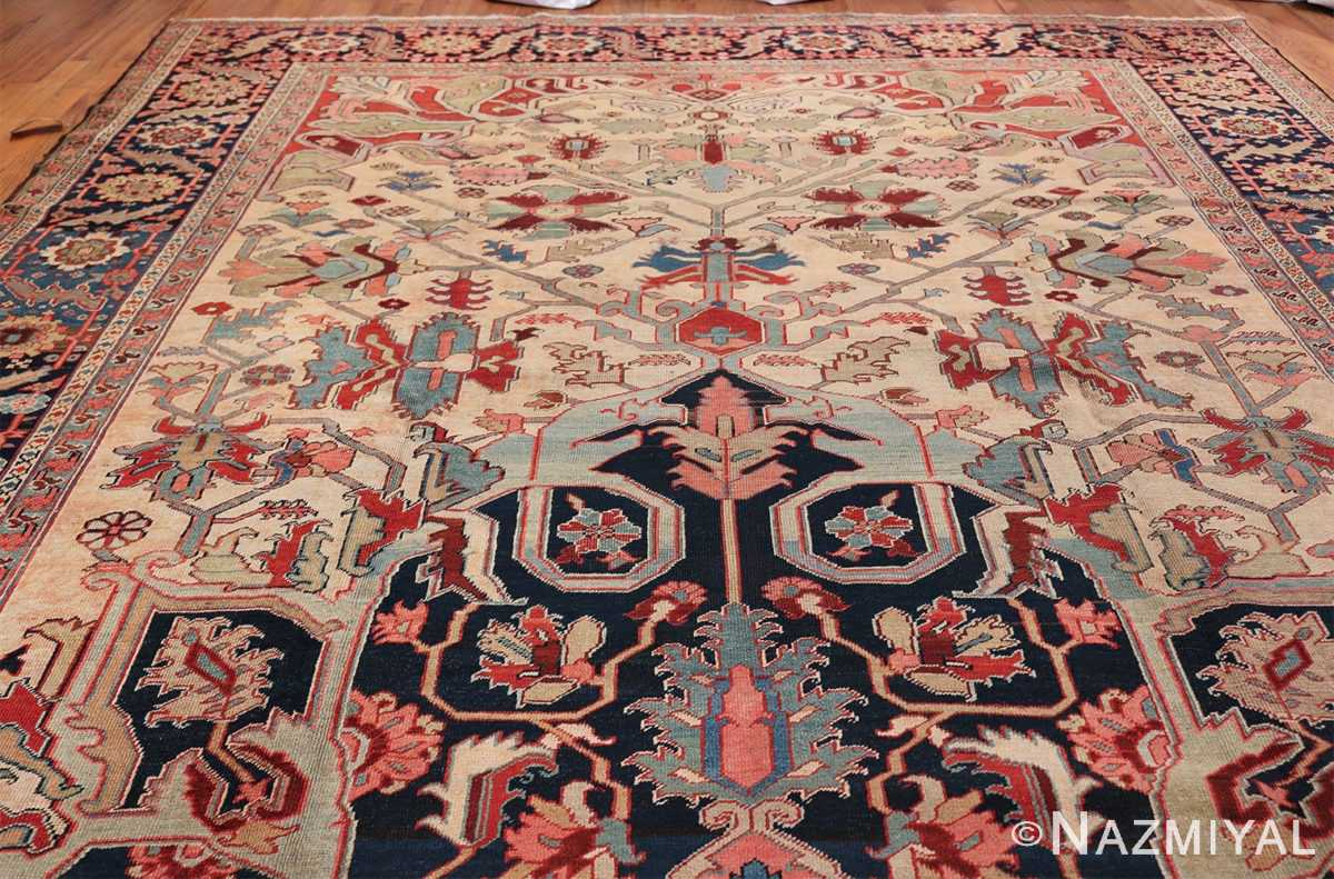 Oversize Antique Persian Heriz Serapi Persian Rug 44085 Top Design Nazmiyal