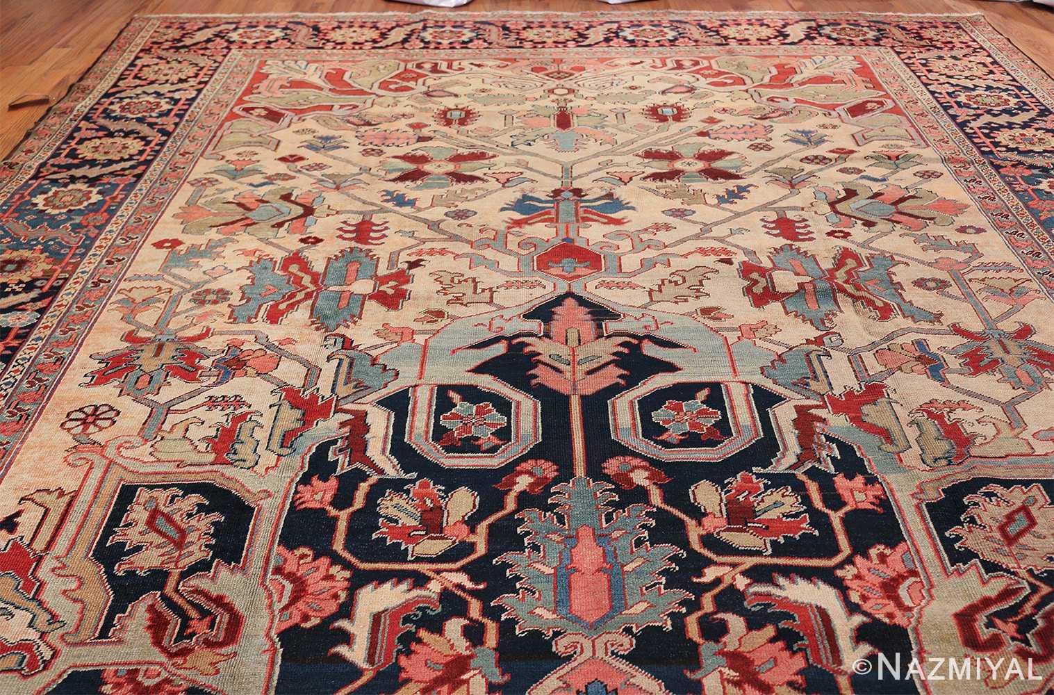 Oversize Antique Persian Heriz Serapi Persian Rug 44085 Top Design Nazmiyal