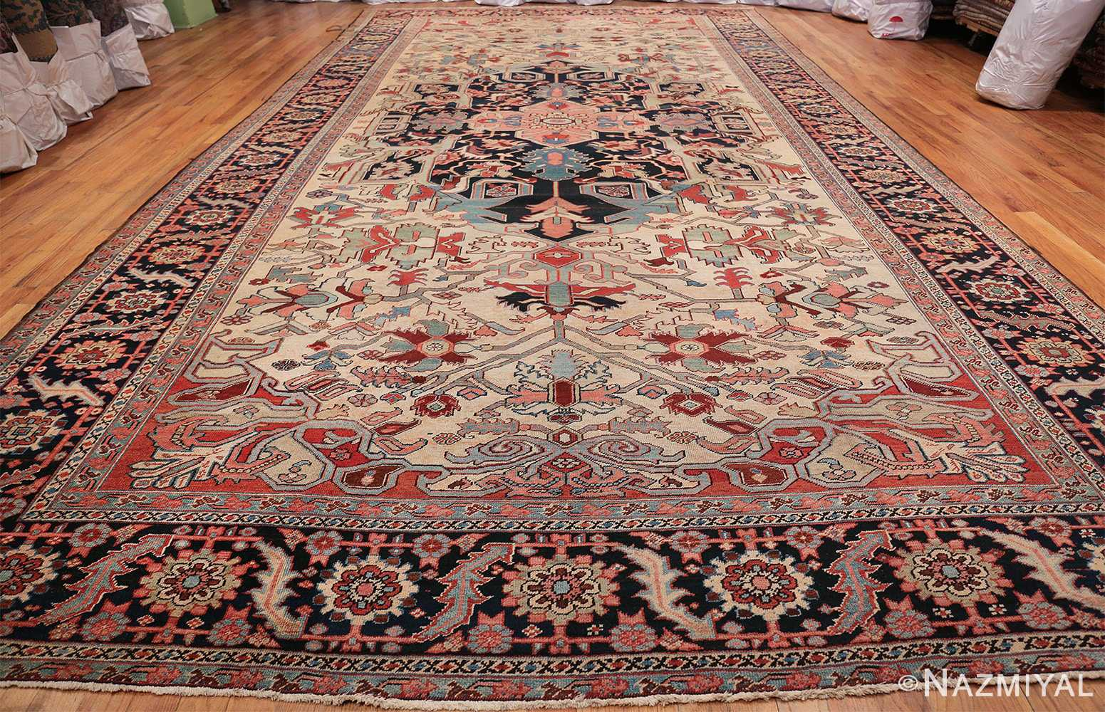 Oversize Antique Persian Heriz Serapi Persian Rug 44085 Whole Design Nazmiyal
