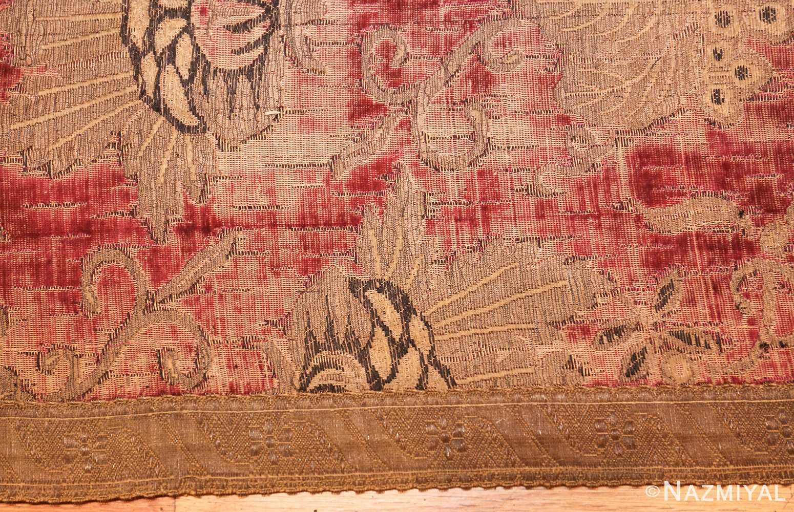 antique velvet italian textile 41961 border Nazmiyal