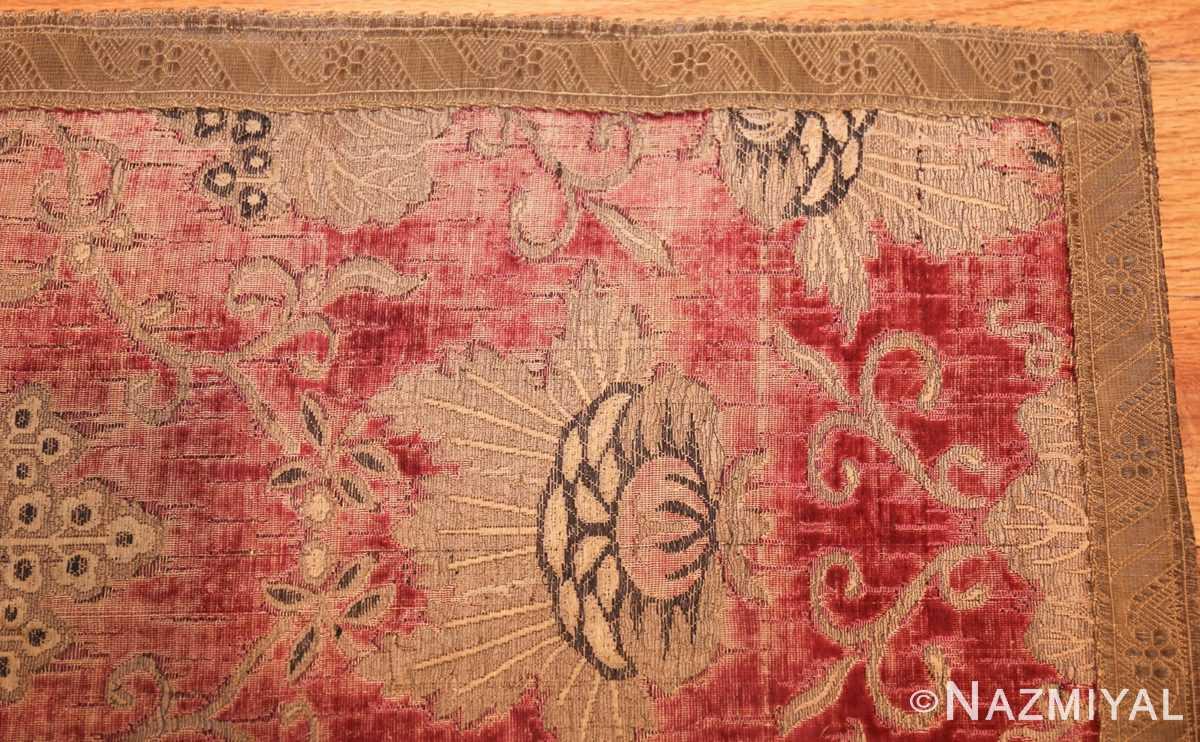 antique velvet italian textile 41961 corner Nazmiyal