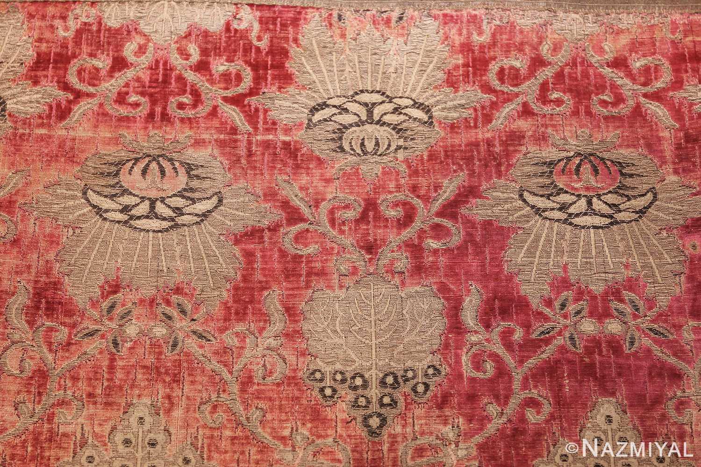 antique velvet italian textile 41961 flowers Nazmiyal