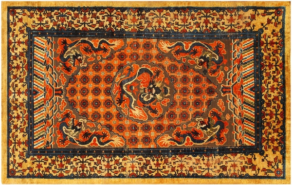 Antique Rugs From The Far East by Nazmiyal