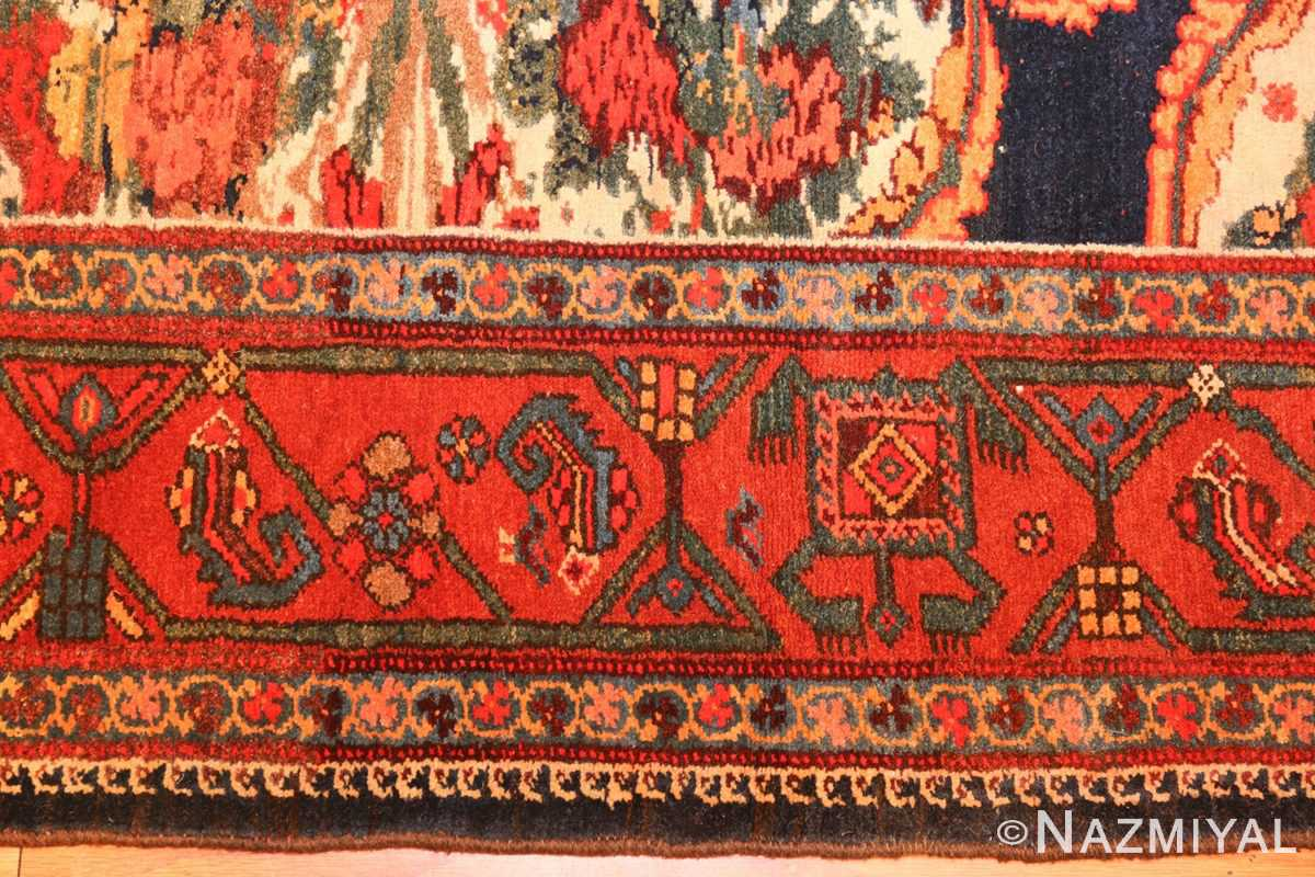 antique kurdish bidjar persian rug 44412 border Nazmiyal