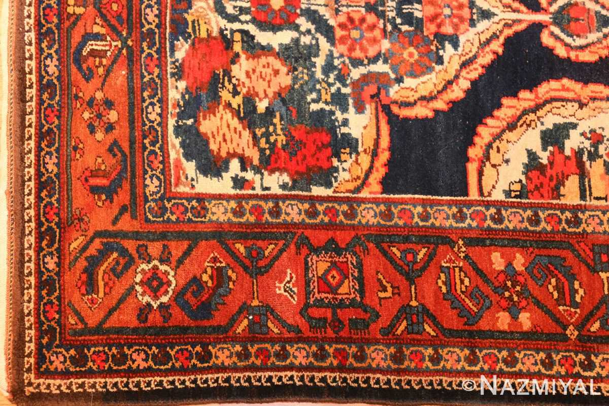 antique kurdish bidjar persian rug 44412 corner Nazmiyal