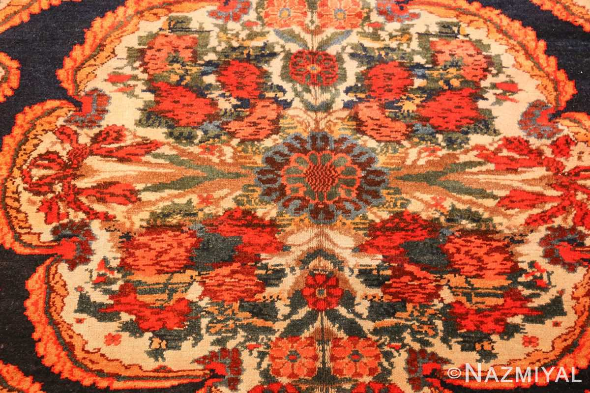 antique kurdish bidjar persian rug 44412 medallion Nazmiyal
