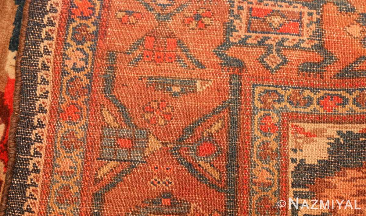 antique kurdish bidjar persian rug 44412 weave Nazmiyal
