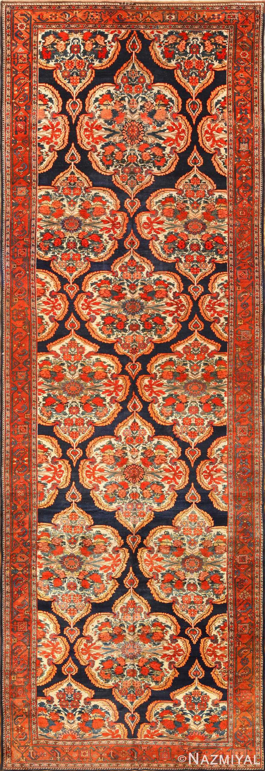 antique kurdish bidjar persian rug 44412 Nazmiyal