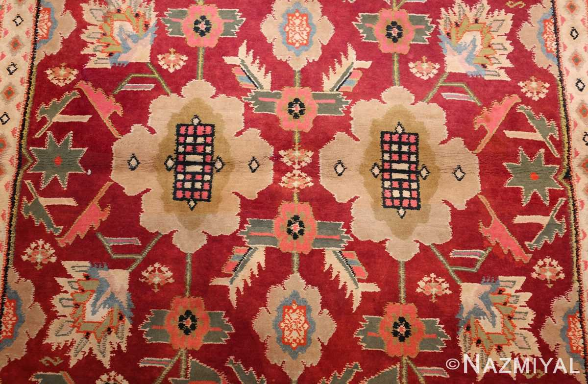 antique indian cotton agra rug 44380 field Nazmiyal