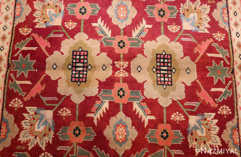 antique indian cotton agra rug 44380 field Nazmiyal