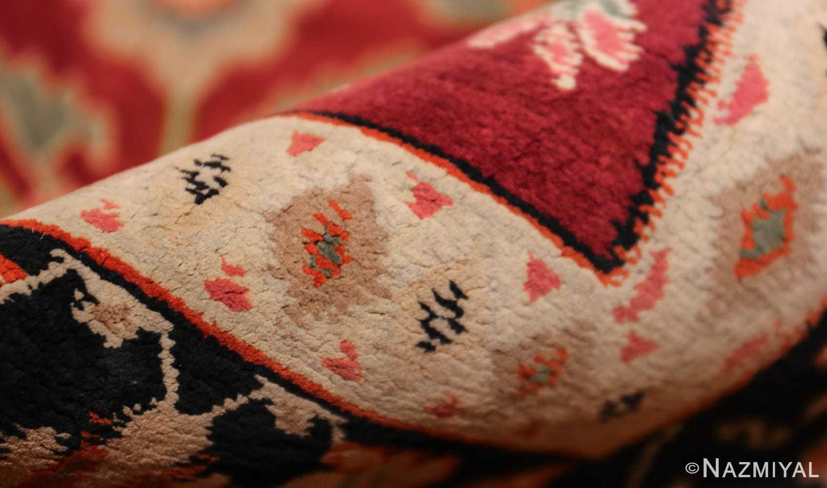 antique indian cotton agra rug 44380 pile Nazmiyal