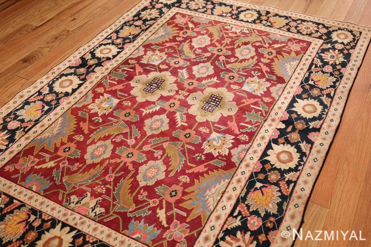 antique indian cotton agra rug 44380 side Nazmiyal