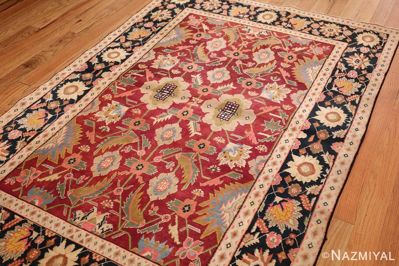 antique indian cotton agra rug 44380 side Nazmiyal