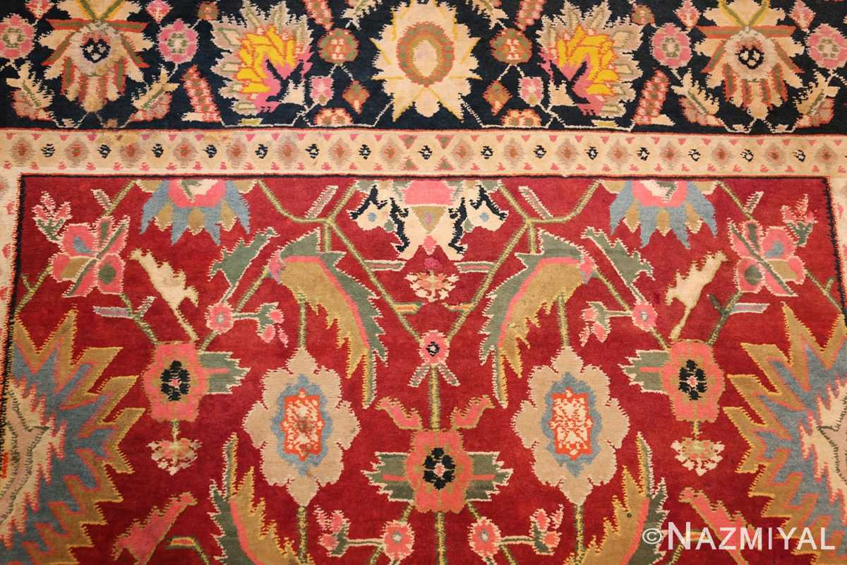 antique indian cotton agra rug 44380 top Nazmiyal