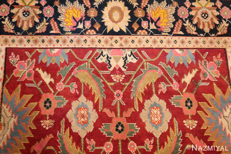antique indian cotton agra rug 44380 top Nazmiyal