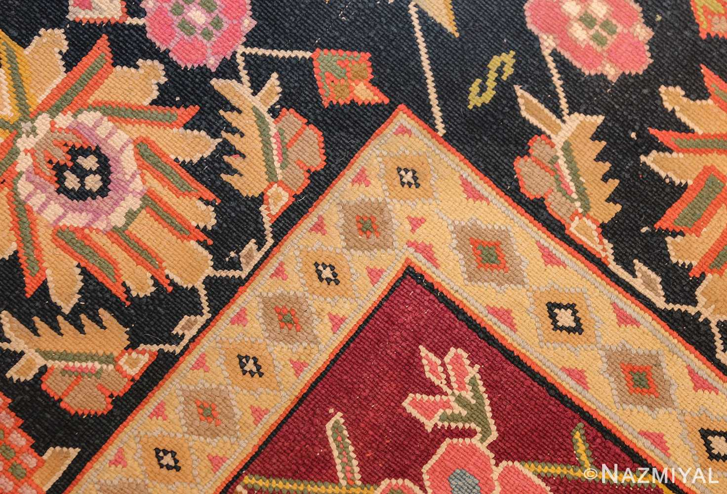 antique indian cotton agra rug 44380 weave Nazmiyal